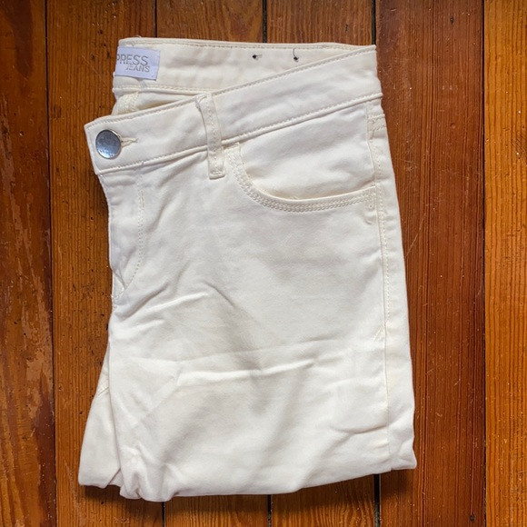 EXPRESS cream colored skinny jeans